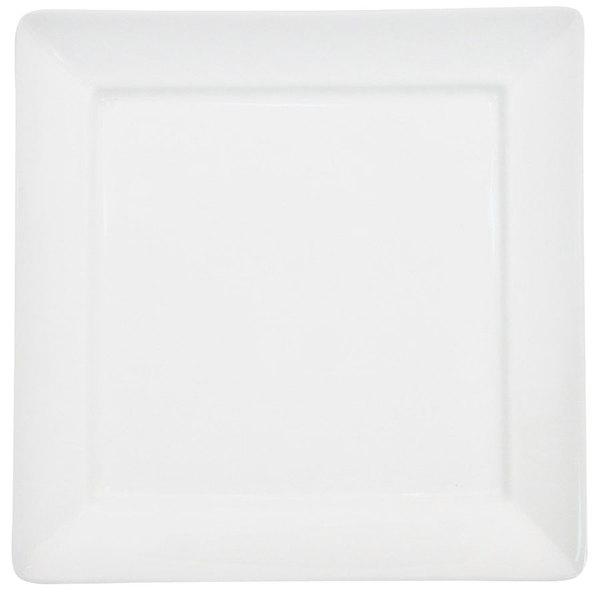 "CAC F-SQ14 Paris French 14"" Bone White Square Porcelain Tray - 9/Case"