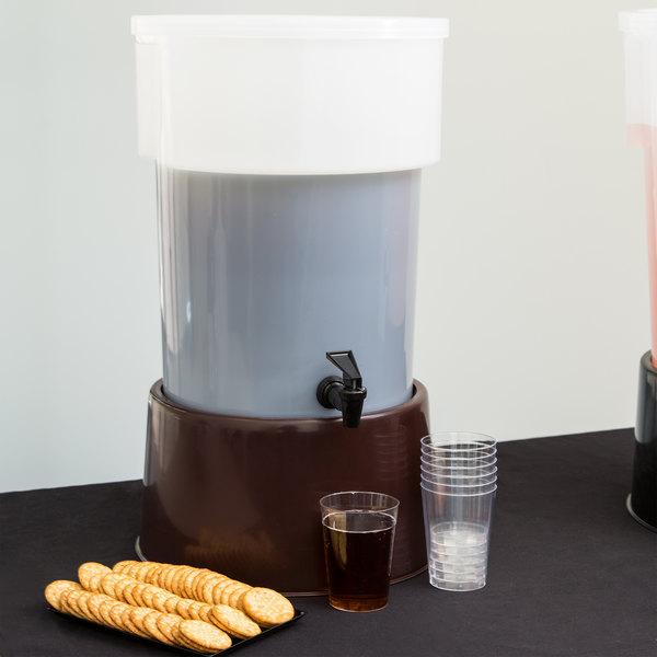 Carlisle 223001 5 Gallon White Round Beverage Dispenser with Base