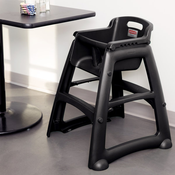 Ordinaire Rubbermaid FG781408BLA Black Sturdy Chair Restaurant High Chair Without  Wheels (Ready To Assemble)