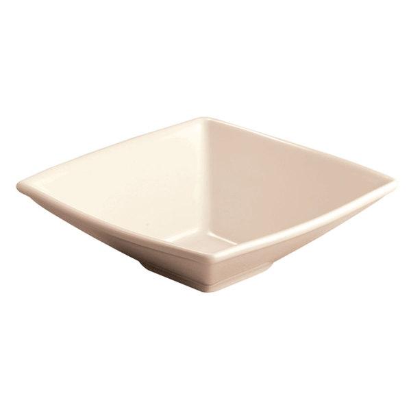 Homer Laughlin 72500 Times Square 16 oz. Ivory (American White) Square China Bowl - 24/Case
