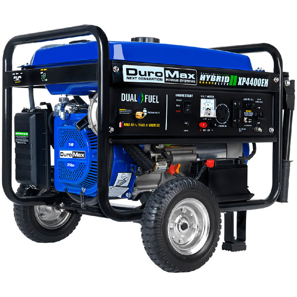 DuroMax XP4400EH Portable Dual Fuel Powered Generator with Electric / Recoil Start and Wheel Kit - 4,400/3,500W, 120V Main Image 1
