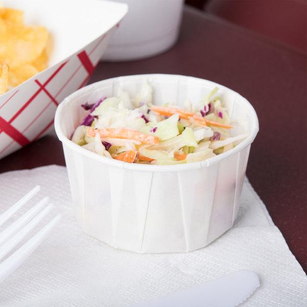 Paper Portion Cups 4 oz. White 5000 Per Case