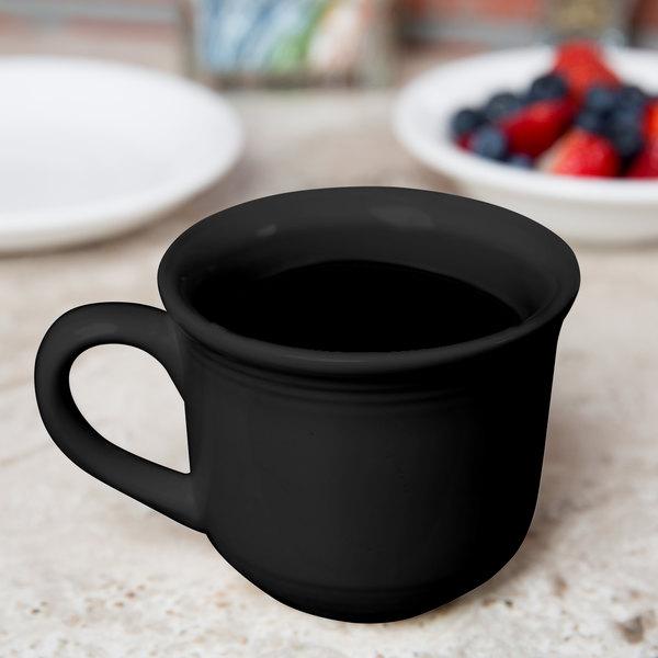 Tuxton CBF-0702 Concentrix 8 oz. Black Round China Mug - 24/Case