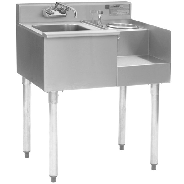 """Eagle Group BD24-18R 1800 Series 24"""" Underbar Sink with Right Blender Module Main Image 1"""