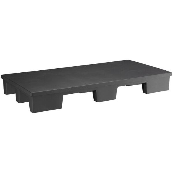 "Regency 48"" x 24"" x 6"" Black Plastic Display Base / Spot Merchandiser - 1200 lb. Capacity Main Image 1"