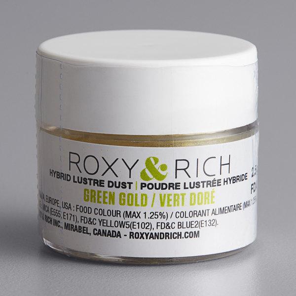 Roxy & Rich 2.5 Gram Green Gold Lustre Dust