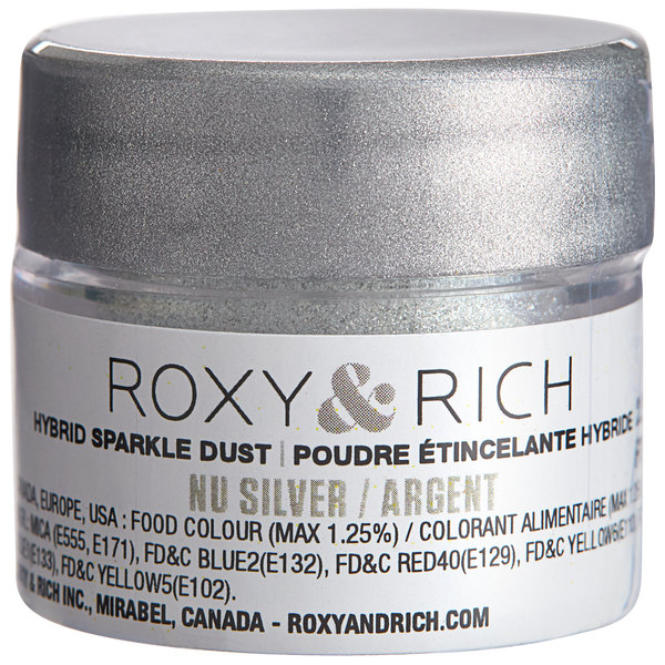 Roxy & Rich 2.5 Gram Nu Silver Sparkle Dust