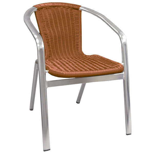 tables and seating 56 aluminum chair with synthetic bamboo back