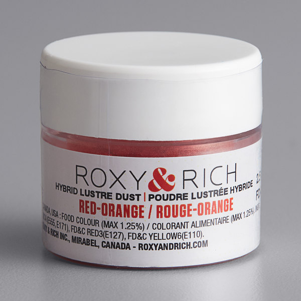 Roxy & Rich 2.5 Gram Red-Orange Lustre Dust