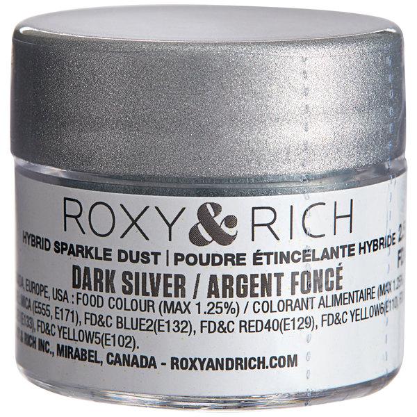 Roxy & Rich 2.5 Gram Dark Silver Sparkle Dust