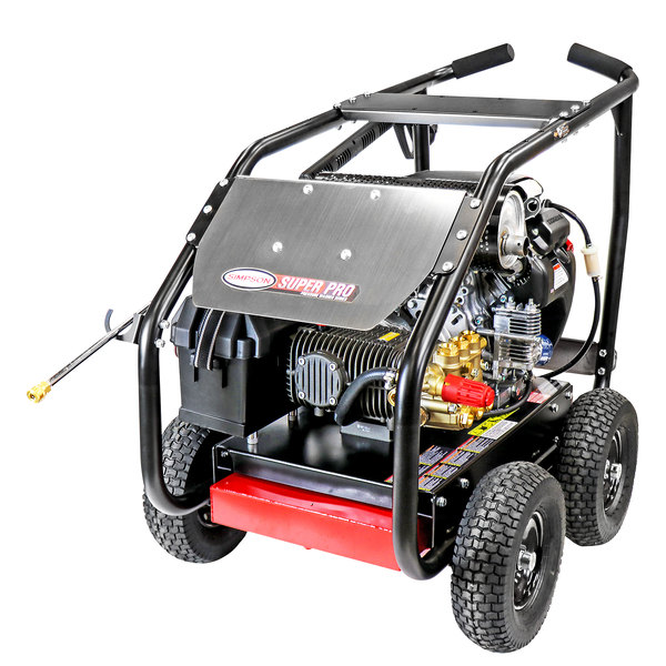 Simpson 65213 Super Pro Pressure Washer with Roll Cage, Honda Engine, and 50' Hose - 5000 PSI; 5 GPM Main Image 1