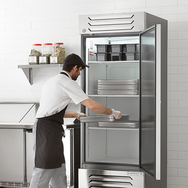 "Beverage-Air SF1HC-1S Slate Series 30"" Solid Door Reach-In Freezer Main Image 5"