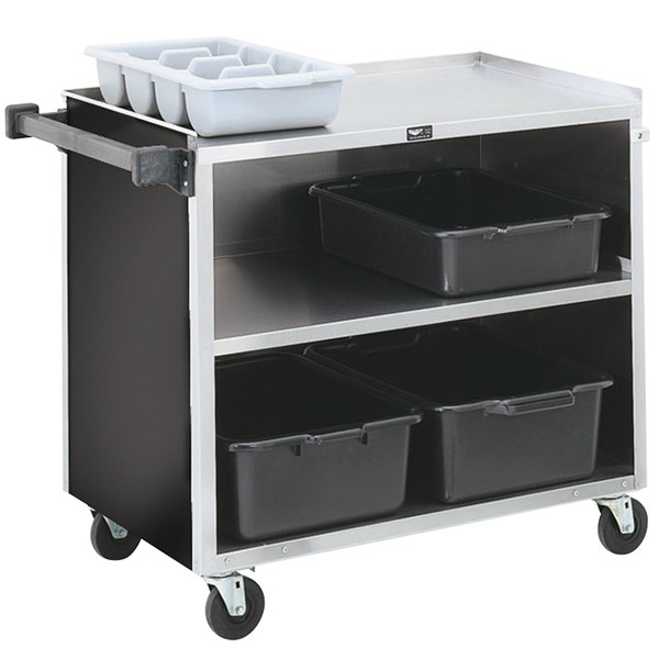 "Vollrath 97182 3 Shelf Bussing Cart - 39"" x 21"" x 35"" Main Image 1"