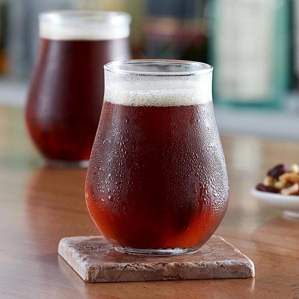 Acopa Select 13 oz. Stemless Belgian Beer / Tulip Glass - 12/Pack Main Image 2