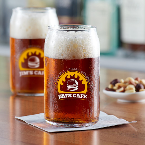 Acopa Select 16 oz. Customizable Can Glass - 12/Pack Main Image 2