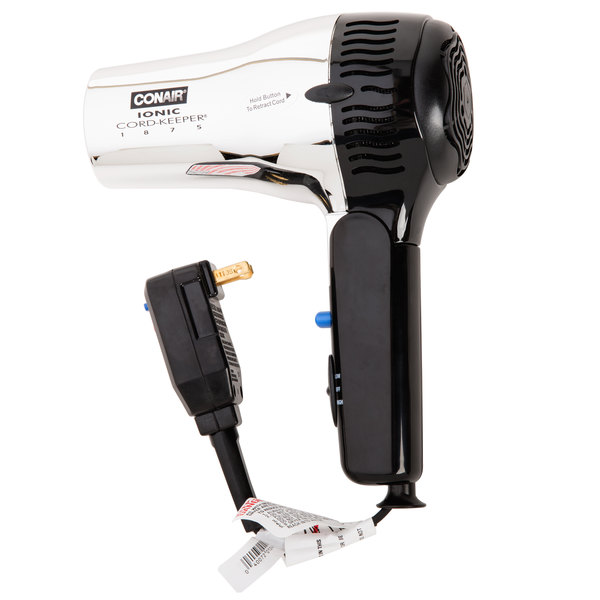 Conair 169CHIW Chrome Cord Keeper Hair Dryer - 1875W