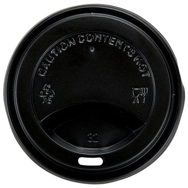 Choice 8 oz. Black Hot Paper Cup Travel Lid - 1000/Case