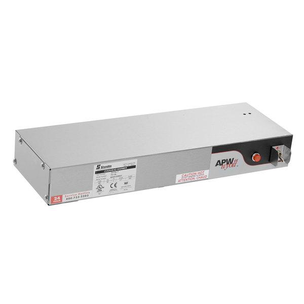 "APW Wyott FD-18L-T 18"" Calrod Strip Food Warmer with Toggle Controls - 208V, 250W"