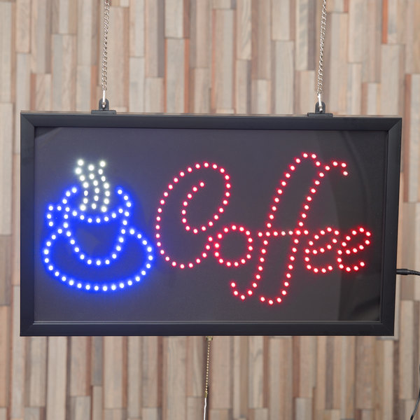 "Choice 22"" x 13"" LED Coffee Sign With Three Display Modes"