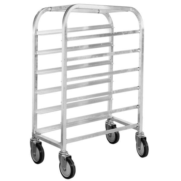 """Winholt AL-106 End Load Aluminum Platter Cart - Six 10"""" Trays"""