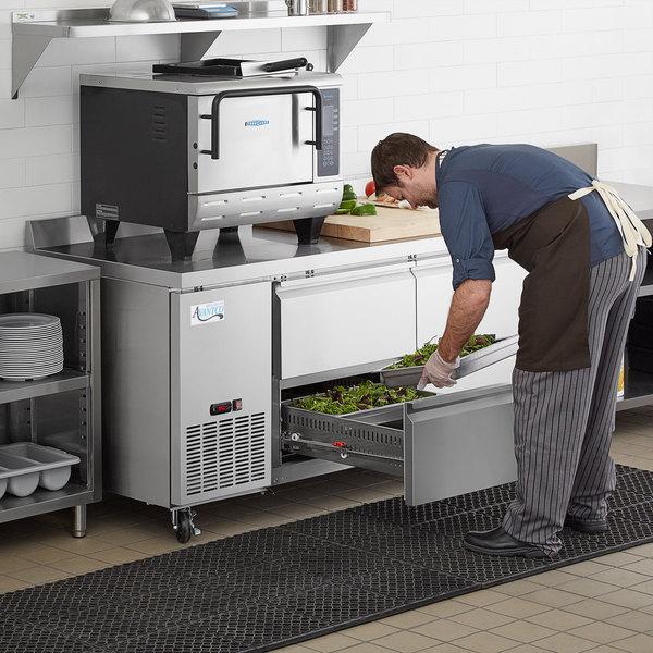 "Avantco 67"" Stainless Steel Four Drawer Worktop Refrigerator with 3 1/2"" Backsplash Main Image 7"