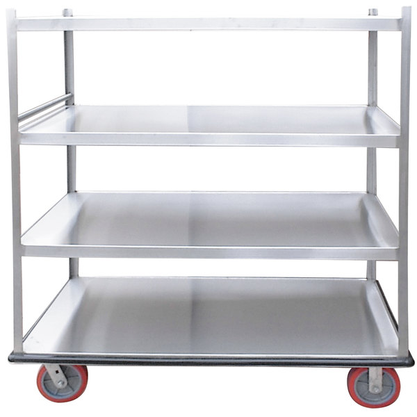 Winholt BNQT-5-SS Queen Mary Stainless Steel Banquet Service Cart with 5 Shelves Main Image 1