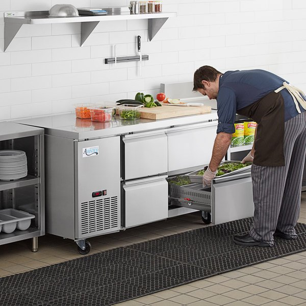 """Avantco SS-UD-260RC 60"""" Stainless Steel Four Drawer Undercounter Refrigerator Main Image 7"""