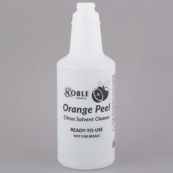 32 oz. Labeled Bottle for Noble Chemical Orange Peel Citrus Solvent Cleaner (IMP 5032WG)