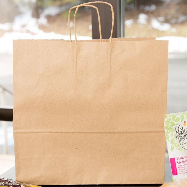 Duro Debonair Natural Kraft Paper Shopping Bag With Handles 16 X 6