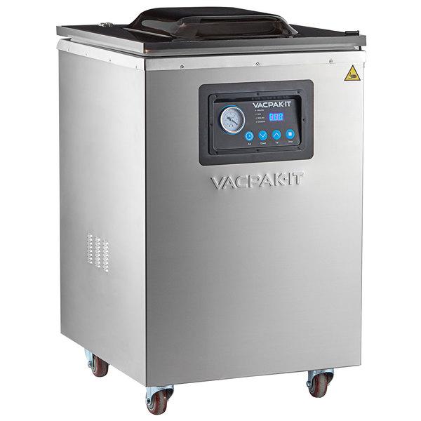 "VacPak-It VMC20F Floor Model Chamber Vacuum Packaging Machine with (2) 20"" Seal Bars Main Image 1"