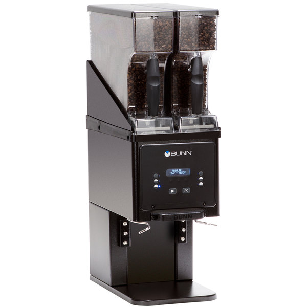Bunn 35600.0022 BrewWISE MHG Black Multi Hopper Coffee Grinder with Removable Hoppers - 120V