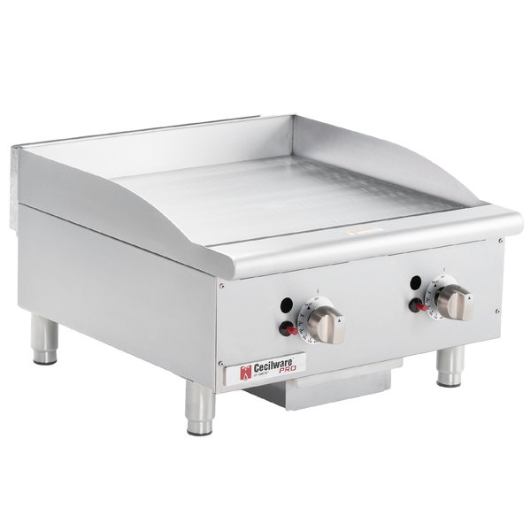 "Cecilware CE-G24TPF 24"" Gas Griddle with Thermostatic Controls - 60,000 BTU"