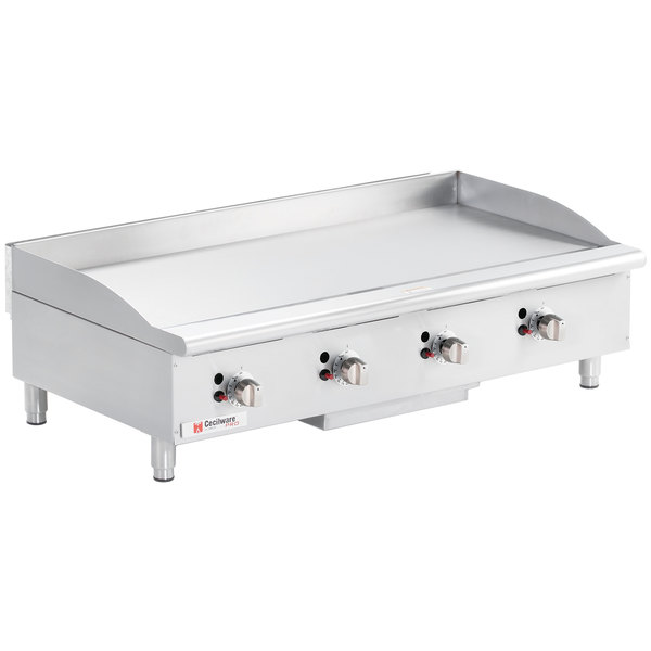 """Cecilware CE-G48TPF 48"""" Gas Griddle with Thermostatic Controls - 120,000 BTU Main Image 1"""