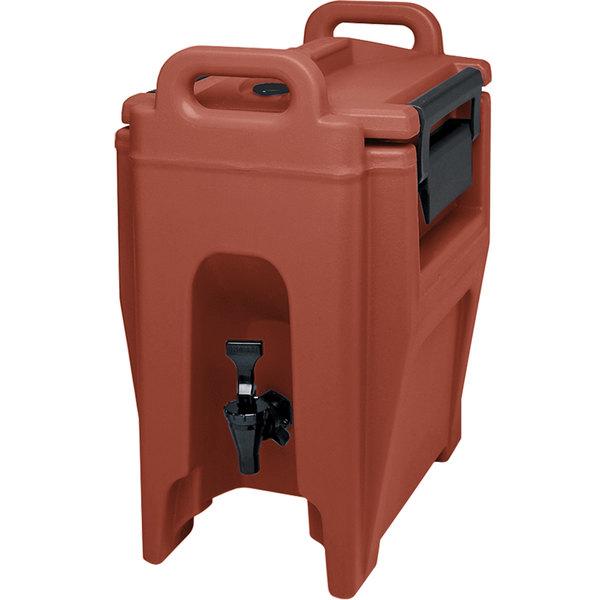 Cambro UC250402 Ultra Camtainer 2.75 Gallon Brick Red Insulated Beverage Dispenser