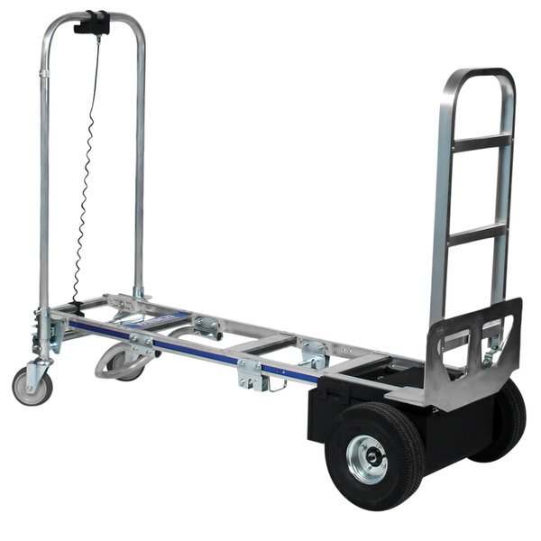 """Wesco Industrial Products 220656 CobraPro Sr. 600 / 1200 lb. Battery-Powered Convertible Hand Truck with 10"""" Pneumatic Wheels and Continuous Handle - 24V Main Image 1"""