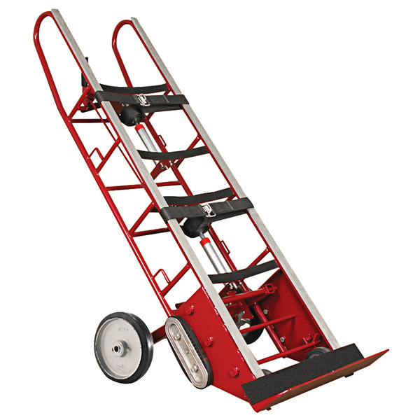 """Wesco Industrial Products 230075 27"""" x 17"""" x 78"""" 1800 lb. Heavy-Duty Appliance Hand Truck with 24"""" Nose Plate and Wheel Lock Main Image 1"""