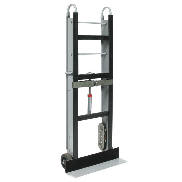 """Wesco Industrial Products 272410 550 lb. Aluminum Appliance Hand Truck with 6"""" Moldon Rubber Wheels and 24"""" Nose Plate Main Image 1"""