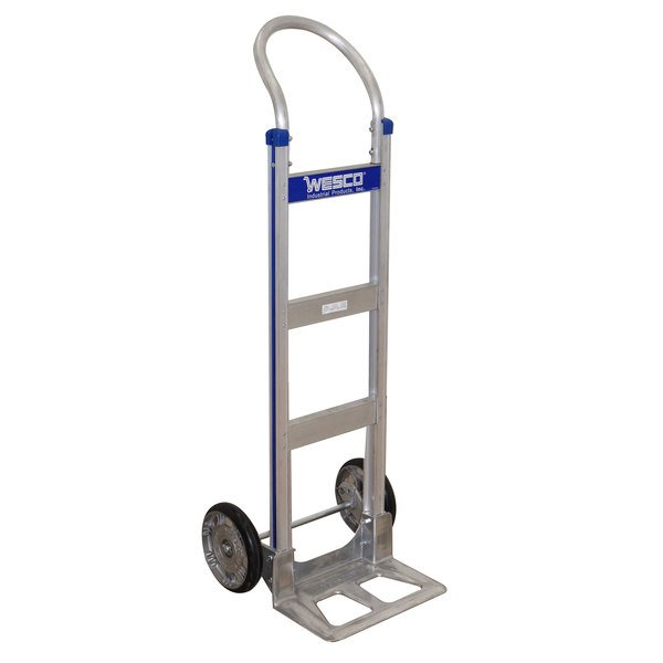 "Wesco Industrial Products 220562 Cobra-Lite Series 410 600 lb. Aluminum Hand Truck with 10"" Hub Balloon Cushion Wheels and 14"" Nose Plate Main Image 1"