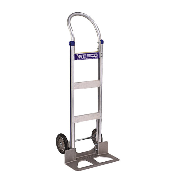 """Wesco Industrial Products 220392 Cobra-Lite Series 410 600 lb. Aluminum Hand Truck with 8"""" Moldon Rubber Wheels and 18"""" Nose Plate Main Image 1"""