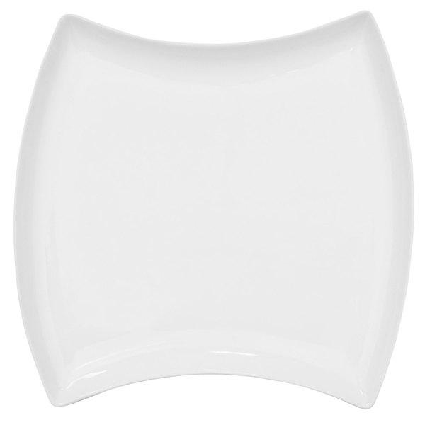 "CAC FTO-9 Fashionware 9"" x 9"" Bone White Porcelain Fashion Square Plate - 24/Case"