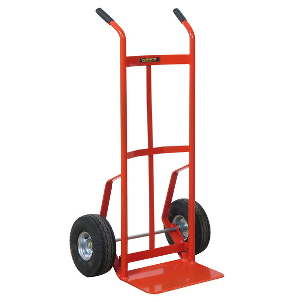 "Wesco Industrial Products 210027 700 lb. Steel Industrial Hand Truck 10"" Pneumatic Wheels Main Image 1"