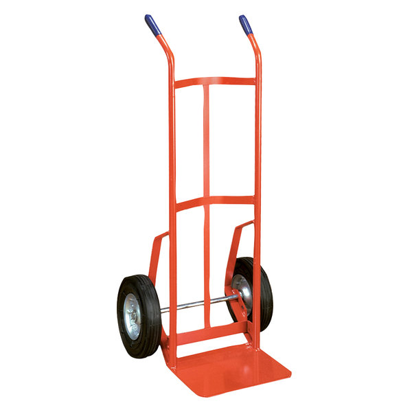 "Wesco Industrial Products 210026 700 lb. Steel Industrial Hand Truck with 10"" Semi-Pneumatic Wheels Main Image 1"