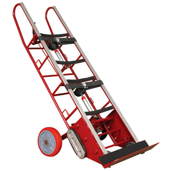 """Wesco Industrial Products 230074 27"""" x 17"""" x 72"""" 1800 lb. Heavy-Duty Appliance Hand Truck with 24"""" Nose Plate and Wheel Lock Main Image 1"""