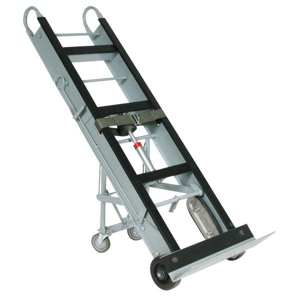 """Wesco Industrial Products 272412 550 lb. Aluminum Appliance Hand Truck with 24"""" Nose Plate and Swivel Casters Main Image 1"""