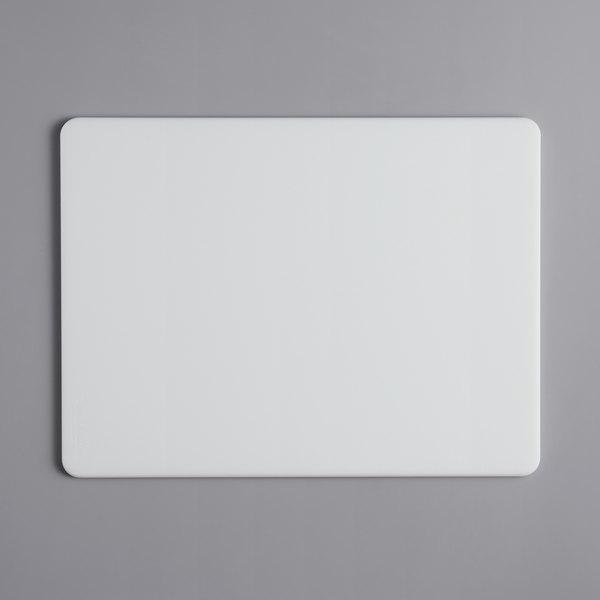 "Tomlinson Chef's Edge 20"" x 15"" x 1/2"" Premium White Polyethylene Cutting Board Main Image 1"