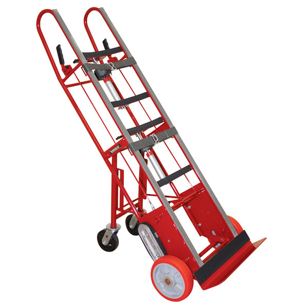 """Wesco Industrial Products 230077 27"""" x 16"""" x 78"""" 1800 lb. Heavy-Duty Appliance Hand Truck with 24"""" Nose Plate and Swivel Casters Main Image 1"""