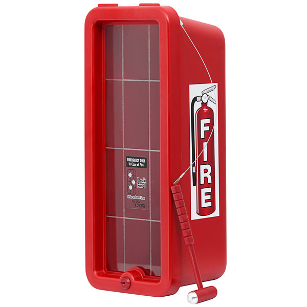 Cato 10551-H Chief Red Surface-Mounted Fire Extinguisher Cabinet with Hammer Attachment for 5 lb. Fire Extinguishers Main Image 1