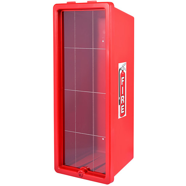Cato 12051-O Chief Red Surface-Mounted Fire Extinguisher Cabinet for 20 lb. Fire Extinguishers Main Image 1