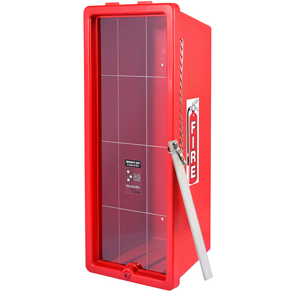 Cato 12051-B Chief Red Surface-Mounted Fire Extinguisher Cabinet with Breaker Bar Attachment for 20 lb. Fire Extinguishers Main Image 1