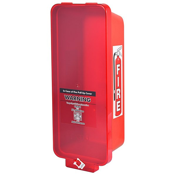 Cato 95552 Warrior Red Surface-Mounted Fire Extinguisher Cabinet with Red Pull-Cover for 2 1/2 lb. or 5 lb. Fire Extinguishers Main Image 1